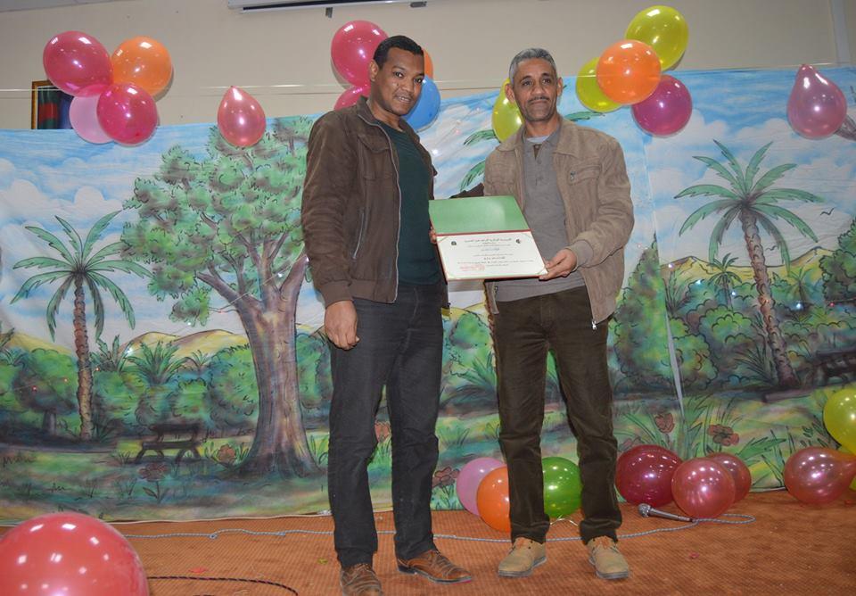 """تكريم المشرف الولائي لتحدي القراءة لولاية ورقلة السيد:"""" بشير مزاري"""""""